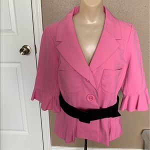 Sunny Leigh hot pink blazer with belt - Size 8